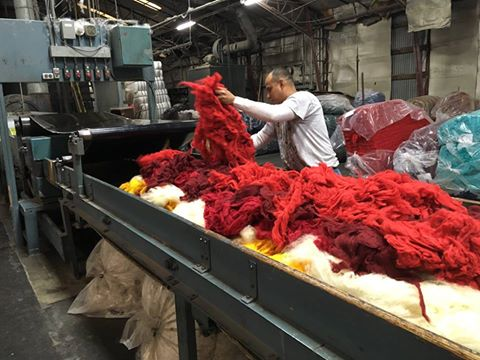 Making Mauch Chunky yarn at Kraemer Yarns